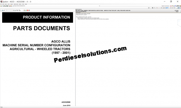 Agco Allis NA 2019 parts books & Workshop service manuals