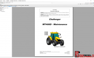 Agco Challenger parts books & workshop manual