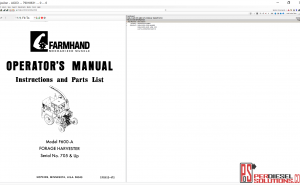 Agco Farmhand 2019 parts books & Service Bulletins