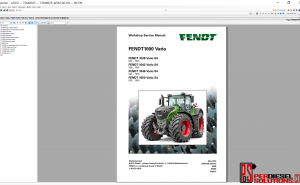 Agco Fendt 07.2019 Parts Books & Workshop service manual