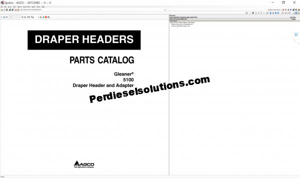 Agco Gleaner 07.2019 parts books & Workshop Service Manuals