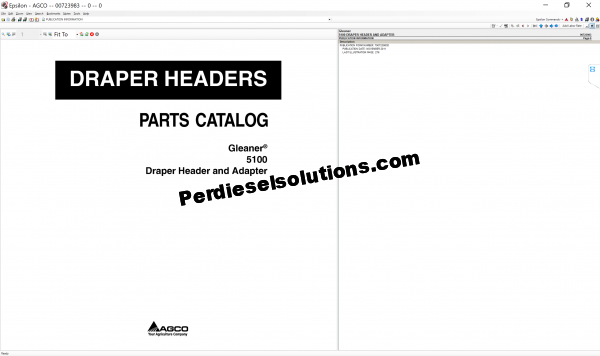 Agco Gleaner 07.2019 parts books & Workshop Service Manuals