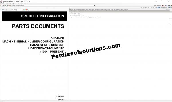 Agco Gleaner 2019 parts books & Workshop Service Manuals