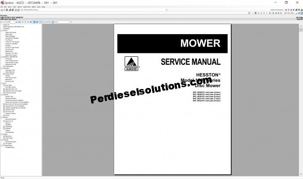 Agco Hesston 2019 parts books & workshop service manuals
