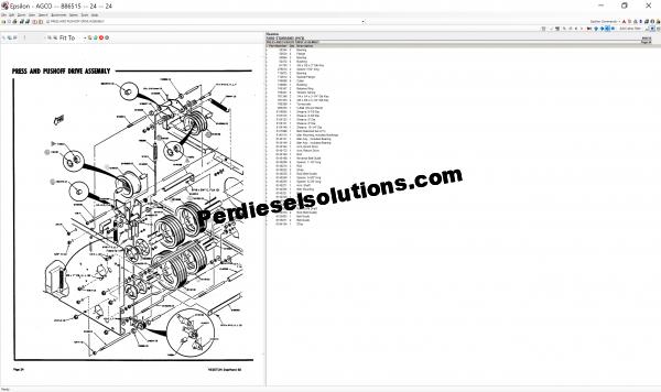 Agco Hesston NA 07.2019 parts books & workshop service manuals