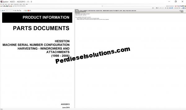 Agco Hesston parts books & workshop service manuals 2019