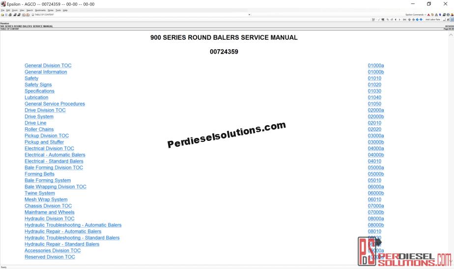 Agco Hesston NA [07 2019] Part Books & Workshop Service Manuals