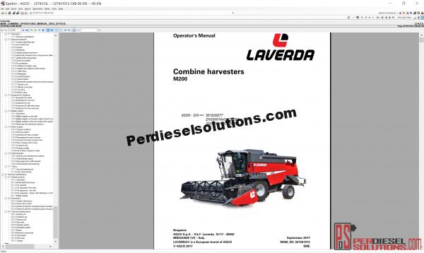 Agco Laverda UK 2019 parts books & workshop service manuals