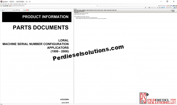 Agco Loral NA 07.2019 Parts Books & Workshop Service Manuals