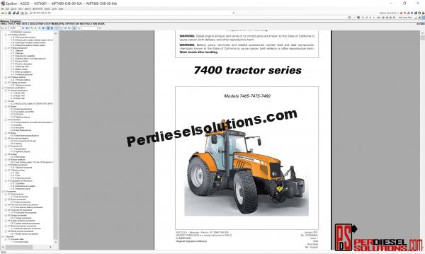 Agco Massey Ferguson 07.2019 Parts Books & Workshop Service Manuals
