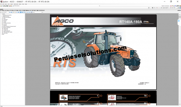 Agco NA 2019 parts books & Service Workshop Manuals