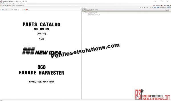 Agco New Idea NA Part Books & Workshop Service Manuals