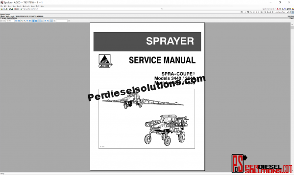 Agco Spra-Coupe UK 2019 parts Books & Workshop service manuals