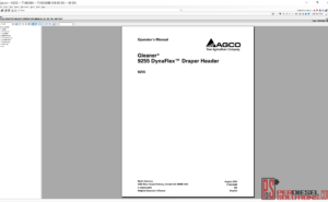 Agco gleaner parts books & workshop service manuals