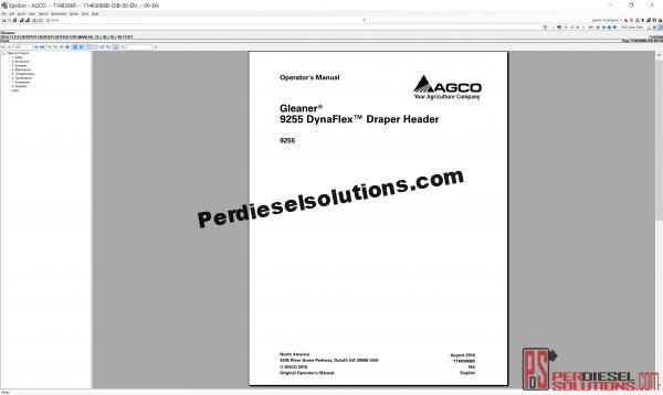 Agco gleaner parts books & workshop service manuals