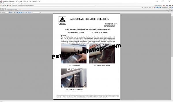 Agcostar NA 2019 Parts Books & Service Bulletins