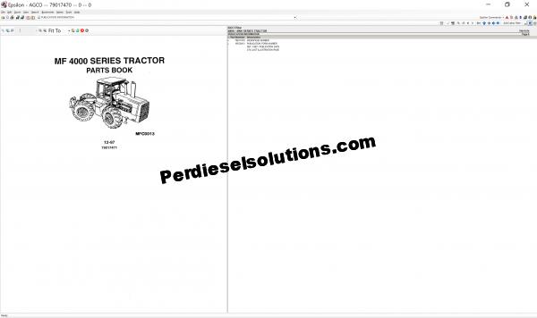 Agcostar NA Parts Books & Service Bulletins