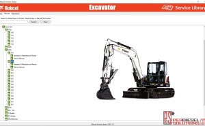 Bobcat Excavator Service Library Service Manual