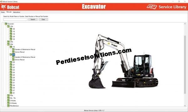 Bobcat Excavator Service Library Service Manual