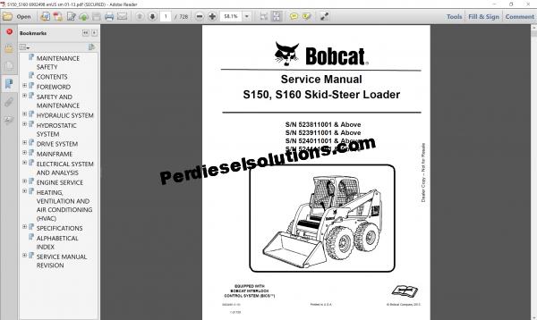Bobcat Loader Service Library 08.2017