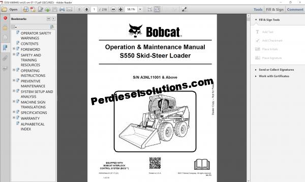 Bobcat Loader Service Library full package