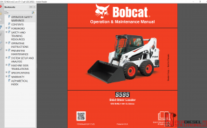 Bobcat Loader service Library 2017 Operation and Maintenace manual