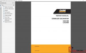 Case Crawler Excavator CX210B, CX240B Repair Manual