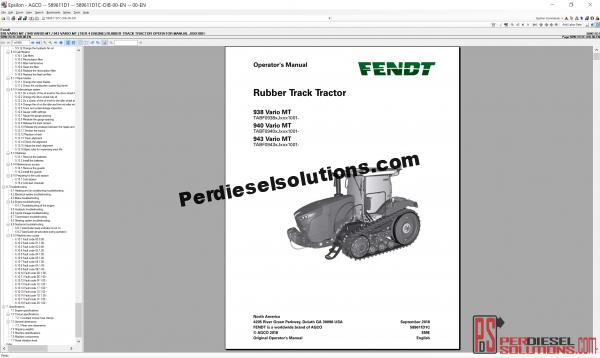 Fend Parts Book 07.2019 Workshop Service Manuals