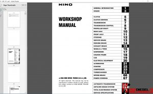 Hino Trucks workshop manual 2004