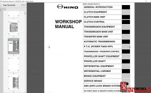 Hino Trucks workshop manual 2005