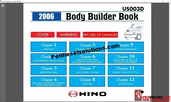 Hino Trucks workshop manual 2007