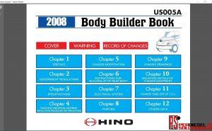 Hino Trucks workshop manual 2008