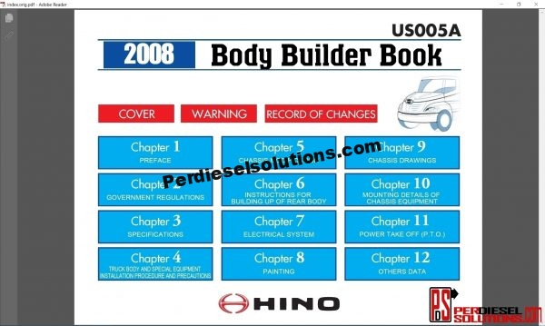 Hino Trucks workshop manual 2008