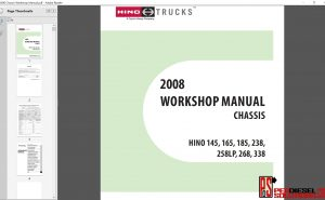 Hino Trucks workshop manual 2008 PDF