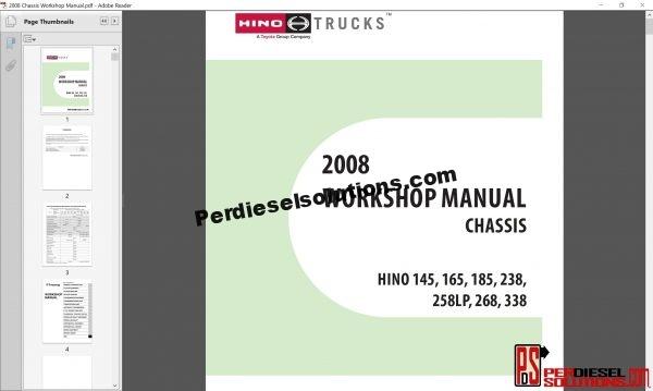Hino Trucks workshop manual 2008 PDF