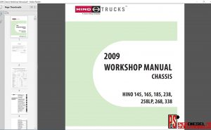 Hino Trucks workshop manual 2009