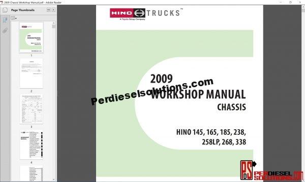 Hino Trucks workshop manual 2009
