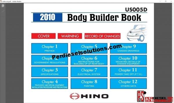 Hino Trucks workshop manual 2010