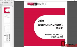 Hino Trucks workshop manual 2010 pdf