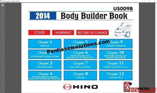 Hino Trucks workshop manual 2014