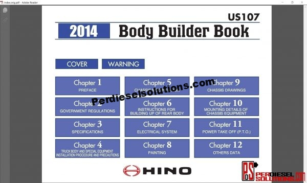 Hino Trucks workshop manual 2014 pdf