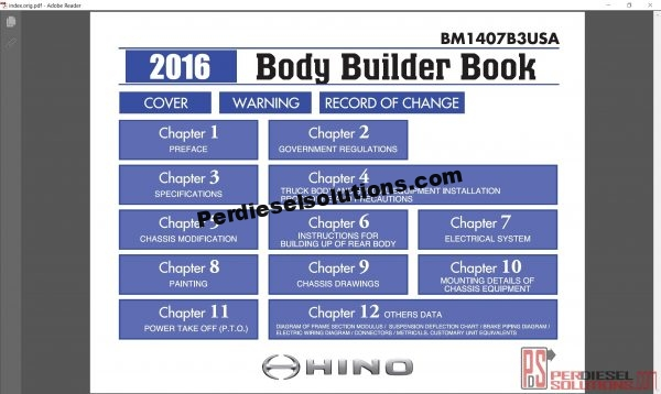 Hino Trucks workshop manual 2016