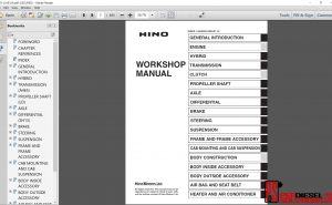 Hino Trucks workshop manual ewd 2012