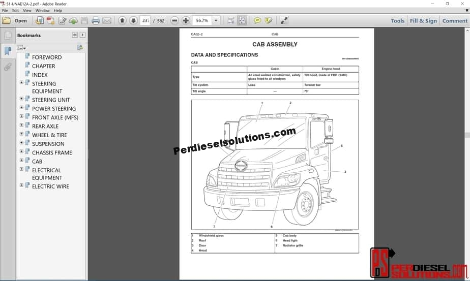 Hino Trucks Workshop Manuals 2012 PDF