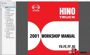 Hino Trucks workshop manuals 2001