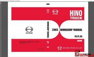 Hino Trucks workshop manuals 2003