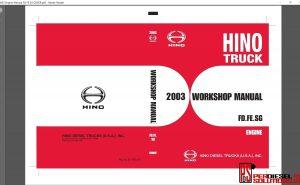 Hino Trucks workshop manuals 2003