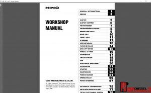 Hino Trucks workshop manuals 2003 pdf