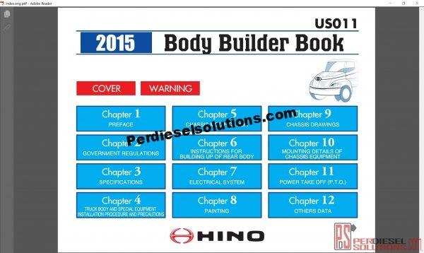 Hino Trucks workshop manuals 2015
