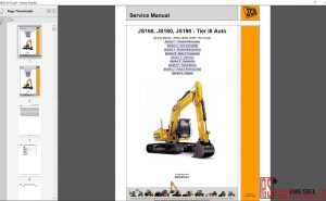 JCB JS160, JS180 Service manual